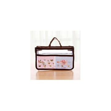 Waterproof Clear Handbag Organizer Double Zipper See Through Cosmetic Insert Purse Organiser Transparent Makeup Travel Pouch
