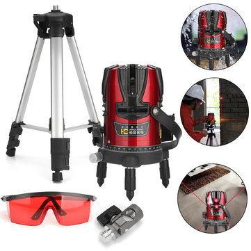 MP-QDX8 Professional Self Leveling Laser Level 360° Rotation 8 Lines Cross Line+Vertical Line