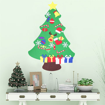 100CM DIY Christmas Deluxe Felt Tree Wall Hanging Toddler Child Preschool Craft Decorations