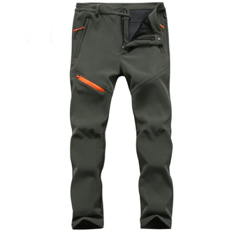 Outdoor Thick Soft Shell Ski Pants Autumn Winter Men's Waterproof Windproof Warm Fleece Trouser