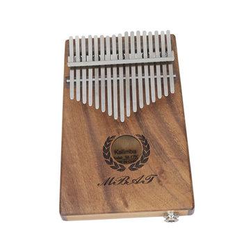 Mebet 17 Keys with EQ Mahogany Kalimba Wooden Thumb Piano Finger Percussion