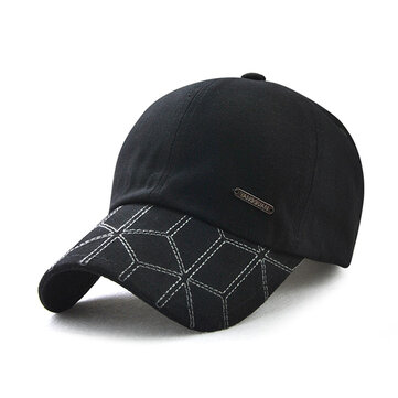 Men Women Cottom Striped Baseball Caps Dad Hat
