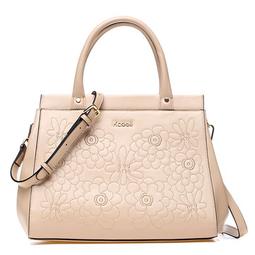Kadell Women Embroidery Flower Tote Handbags Ladies Elegant