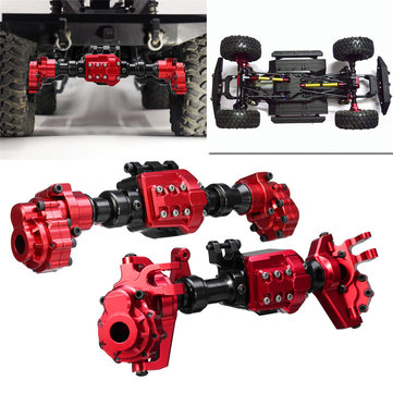 2PCS CNC Machined Aluminum Front Rear Portal Axle Housing Red Color for Traxxas TRX-4 Crawler