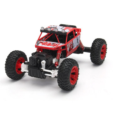 1/18 2.4G 4WD RC Racing Car Double Motor Buggy Rock Crawler Off-Road Truck Toys