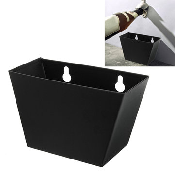 Black Wall Mount Beer Bottle Opener Cap Catcher Box with Screws