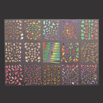3D Irregular Broken Glass Nail Art Transfer Sticker Design Manicure Tips Decal Decoration