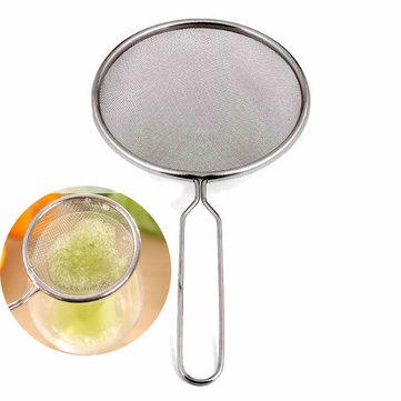 Stainless Steel Fruit Juicer Filter Screen Colander Strainer Soybean Milk Oil Removal Filter Net