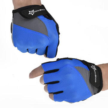 ROCKBROS Sports Cycling Bike GEL Silicone Half Finger Gloves