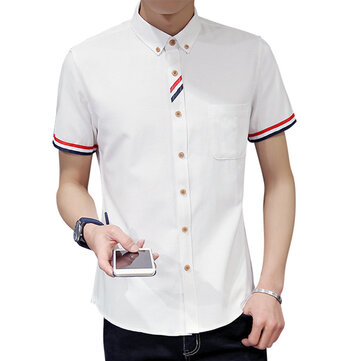 Stylish Fashion Oxford Textile Slim Fit Button down Shirts