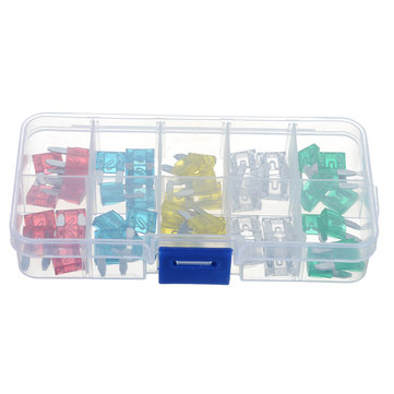50 Pcs 10A To 30A Mini Size Auto Insurance Tablets Fuse Kit Car Insurance Tablets Blade