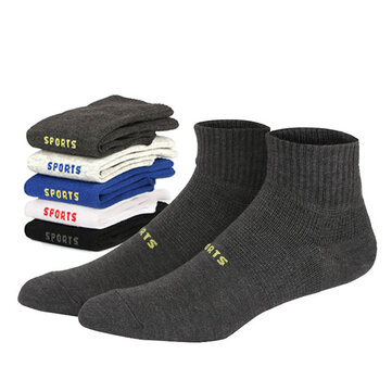 Mens Casual Letter SPORT Cotton Ankle Socks