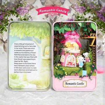 Hoomeda E002 romántico castillo kit de casa de muñecas DIY colección niños cuadro de teatro regalo