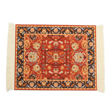 28cm x 18cm Bohemia Style Persian Woven Rug Mouse Pad for Desktop PC