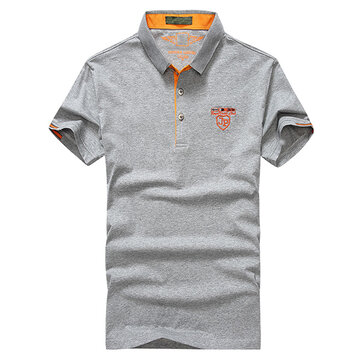 Fashion T-Shirt Cotton Lapel Short Sleeve Golf Shirt