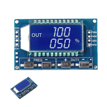 1Hz-150Khz 3.3V-30V Signal Generator PWM Pulse Frequency Duty Cycle Adjustable Module LCD Display Bo