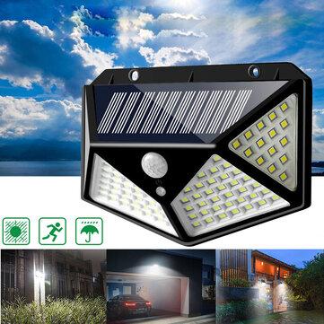100LED Solar Power Wandleuchte Bewegungsmelder Wasserdichte Lampe Outdoor Garden