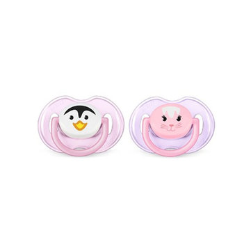 Avent SCF182/13 2pc Infant Silicone Pacifier (For 0-6 M) Baby Soother BPA Free Toddler Orthodontic Nipples Teether