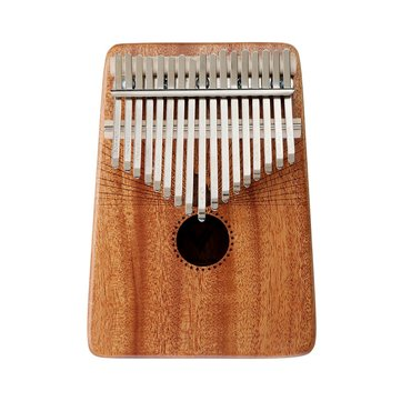 Jonas 17 Key Mahogany Wood Kalimba African Thumb Piano Mini Keyboard Instrument