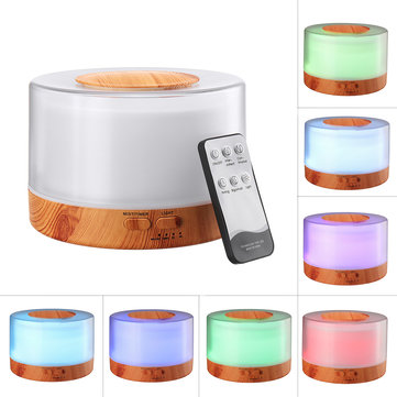 700ML Aromatherapy Essential Oil Diffuser Humidifier Remote Control Humidifier 7 Color LED Lights