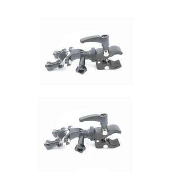 2PCS Plastic Bicycle/Motorcycle Fixed Clip Mount for Zhiyun Smooth C/II/Gopro4/5/6/OSMO/Feiyu Gimbal