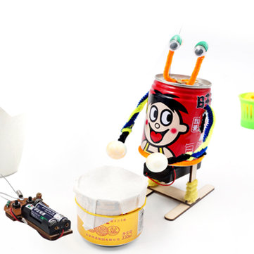 DIY Electric Drumming Robot Educational Scientific Invention Toys Kits for Children