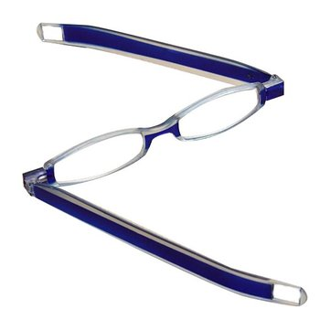 Blue 360 Degree Rotation Rotating Folding Presbyopic Reading Glasses Strength 1.0 1.5 2.0 2.5 3.0 3.5