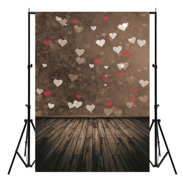 7X5ft Vinyl Wooden Love Valentine's Day Photography Background Studio Backdrop Photo Prop