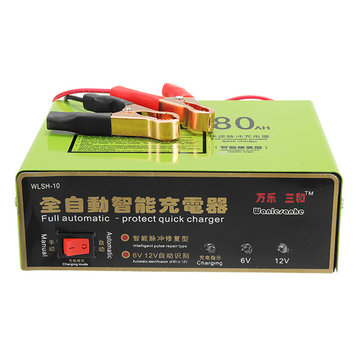 6V / 12V 140W 80AH Smart Full Automatic-Protect Intelligent Puls Reparationstyp