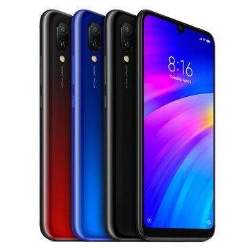 Xiaomi Redmi 7 Version globale 6.26 pouces Caméra arrière double 3GB RAM 32GB ROM Snapdragon 632 Octa core 4G Smartphone