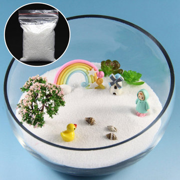 80g DIY Micro Landscape White Sand Decoration Garden Succulent Plants Flower Pot Decor