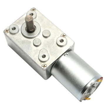 DC 12V 100rpm Worm Gear Reduction Motor Metal Gear Box High Torque Motor