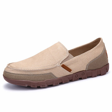 US Size 6.5-11 Men Casual Canvas Slip On Soft Breathable Outdoor Flats