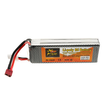 ZOP Power 14.8V 5000mah 50C 4S Lipo Batteria T Plug per RC Quadcopter