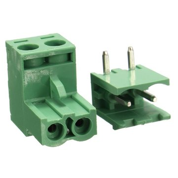 5.08mm Pitch 2Pin Plug-in Screw PCB Terminal Block Connector Right Angle