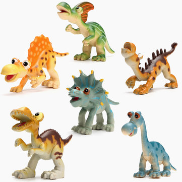 New 6PCS Hard Plastic Cartoon Toy Animal Dinosaur Figures Set Kid Children Gift