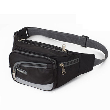 Leisure Sports Pockets Nylon Men Travel Multifunctional Cash Register Waist Bag