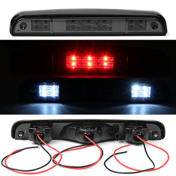 3rd ABS Smoke 14 LED Rear High Mounted Stop Brake Lights Lamp for Ford F150 F250 F350 Bronco