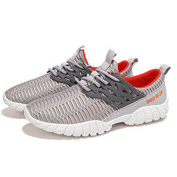 Men Breathable Comfy Mesh Athletic Shoes Sports Shoes