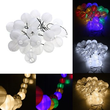 Solar Powered 30LED Fairy String Light White Shell Lantern Xmas Wedding Garden Lamp