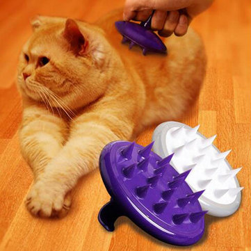 Silicone Pet Dog Massage Grooming Brush