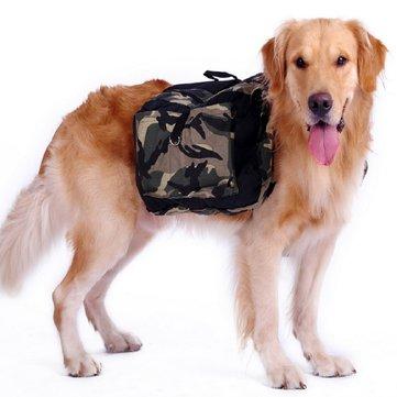 Outdoor large dog bag carrier Backpack Saddle Bags Camouflage big dog travel Carriers for Hiking
