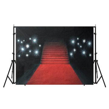 5X7ft Vinyl Photography Red Carpet Art Photo Background Studio Props Backdrop