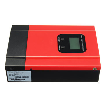 40A MPPT Charge Controller 48V/36V/24V/12V Solar Battery Regulator Max 130V DC Input.