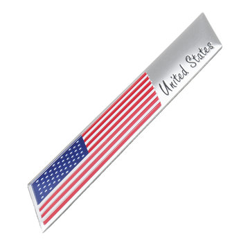 Små klistermärke Emblem Badge Sticker Aluminium USA USA US Flag Fender Dekaler