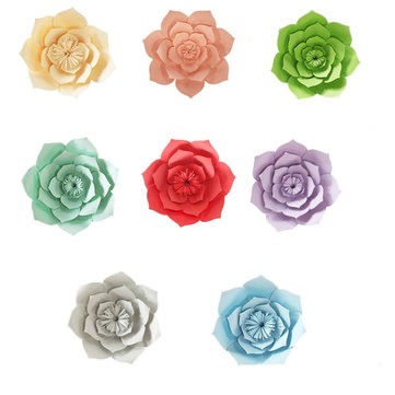 40CM Paper Flower Window Decals Floral Backdrop Wall Wedding Birthday Party Home Shop Decorations