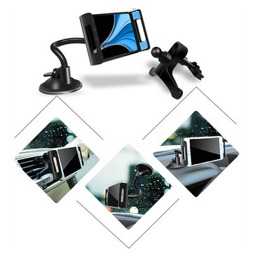 Universal 3 in 1 Strong Suction Adjustable Car Air Vent Wind Shield Phone Holder Dashboard Stand