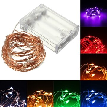10M 100 LED Copper Wire Fairy String Light Battery Powered Waterproof Christmas Party Decor