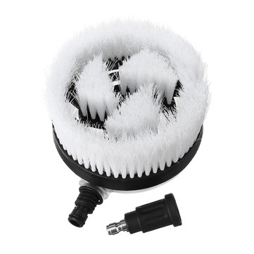 1/4 Inch Quick Connector Pressure Washer Brush Rotating Wash Brush Head Cleaner
