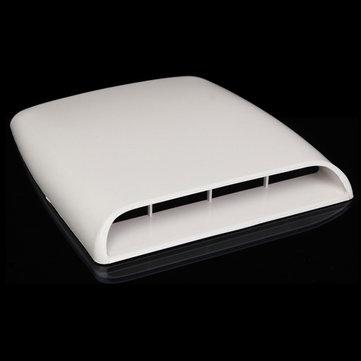 Auto decorative flusso d'aria cappa di aspirazione scoop di sfiato copertura cuffia bianca universale